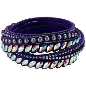 Swarovski Slake Pulse Purple Wrap Bracelet